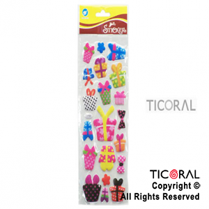STICKER HS4478-6 REGALOS RELIEVE x 12