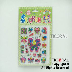 STICKER HS5653-5 MARIPOSAS (14X19CM) x 12