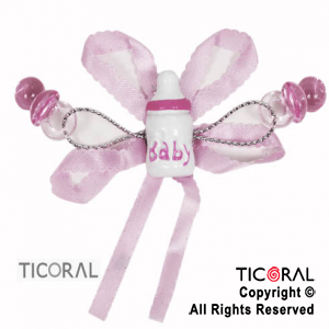 MAMADERA HS6127-1 BABY ROSA COLOR 2.5cm x 1.5cm X6
