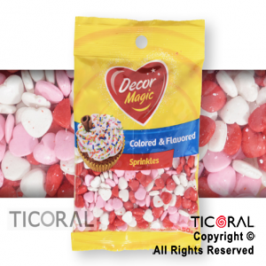 FORMITAS PARA CUPCAKES CORAZON MIX ROJO-ROSA-BLANCO 1 X 50GRS DECOR MAGIC