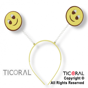 VINCHA EMOTICON CARITA SMILE HS7526-3 x 1