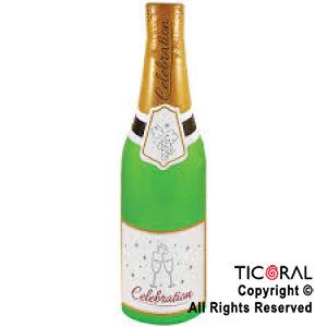 INFLABLE BOTELLA CHAMPAGNE 68 cm HS8535 x 1
