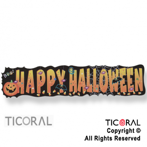 BANDERIN HAPPY HALLOWEEN 1.31 mts DE CARTON HS8640 x 1