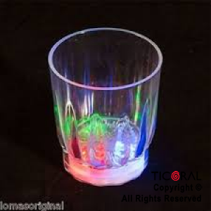VASO LUMINOSO TRANSPARENTE CHICO SHOT 5.5 CM HS8508 x 24