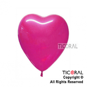 GLOBO S CORAZON 12 FASHION 012 FUCSIA x 50
