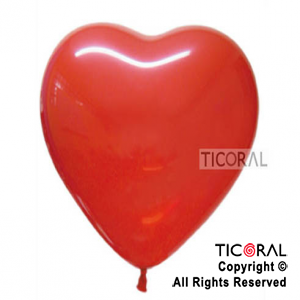 GLOBO S CORAZON 16 FASHION ROJO x 50