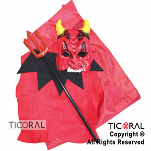 SET DIABLO PECHERA-CAPA CUELLO-TRID-CARE x 1