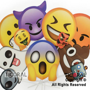 PHOTO PROPS EMOTICONES LOQUITOS X12