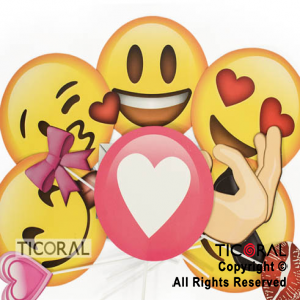 PHOTO PROPS EMOTICONES ROMANTICOS X12