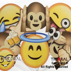 PHOTO PROPS EMOTICONES DIVERTIDOS X12