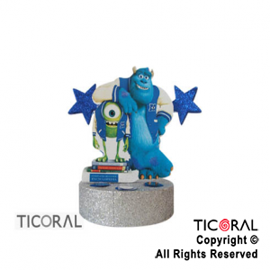 ADORNO TORTA ECO FIGURA MONSTERS x 1
