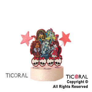 ADORNO TORTA ECO FIGURA MONSTER HIGH x 1