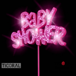 PINCHE BABY SHOWER LUMINOSO C/GIBRE FUCSIA x 1