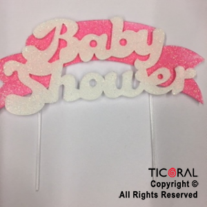 ADOR PINCHE FRASE BABY SHOWER ROSA TERGOLINA x 3