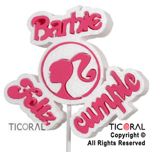 CARTEL DECO BARBIE X 3