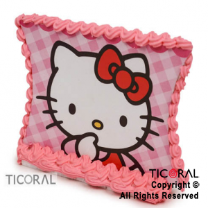 ADORNO PLACA C/GLACE KITTY x 1