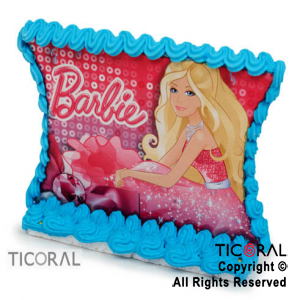 ADORNO PLACA C/GLACE BARBIE x 1