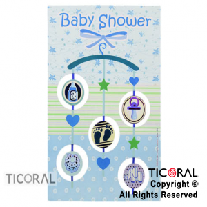 POSTER 4511 BABY SHOWER MOVIL VARON x 1