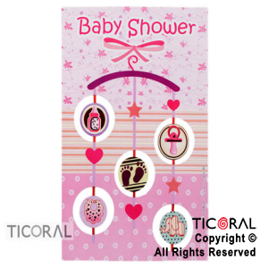 POSTER 4512 BABY SHOWER MOVIL NENA x 1