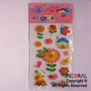 STICKER HS5406-1 FLORES/PAJARITOS x 12