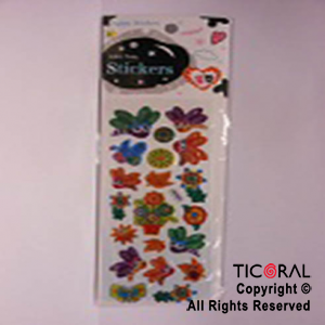 STICKER HS5432-2 MARIPOSAS/FLORES x 12