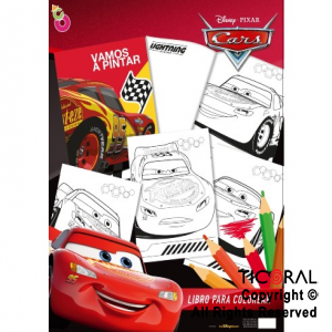 CARS 2019 LIBRO COLOREAR MINI x 8 UNIDADES