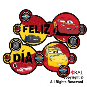 CARS 2019 BANDERIN FELIZ CUMPLE ART x 1