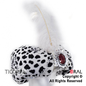 SOMB TURBANTE ANIMAL PRINT FANTASIA BLANCO x 1