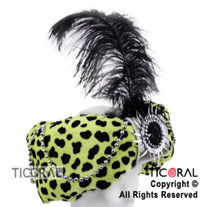 SOMB TURBANTE ANIMAL PRINT FANTASIA AMARILLO FLUO x 1