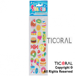 STICKER HS3534-6 GOLOSINAS CON BRILLITOS x 12