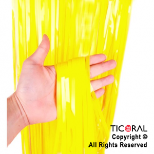 CORTINA PLASTICA COLOR AMARILLO FLUO 2.2 MT (80CM)  x 1