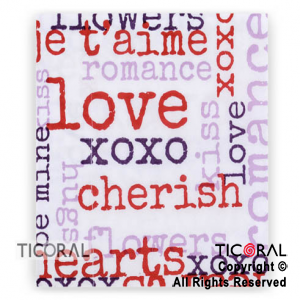 SERVILLETA 30X30 DOBLE HOJA PAPEL TISSUE LOVE x 20