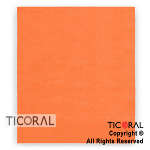 SERVILLETA 30X30 DOBLE HOJA PAPEL TISSUE LISA NARANJA x 20