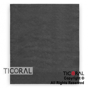 SERVILLETA 30X30 DOBLE HOJA PAPEL TISSUE LISA NEGRA x 20