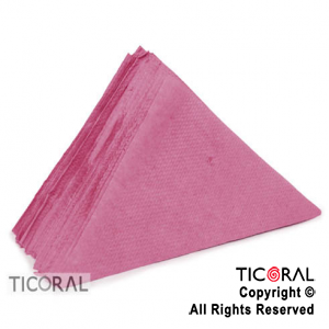 SERVILLETA TRIANGULO 33X33 BORDO x 40