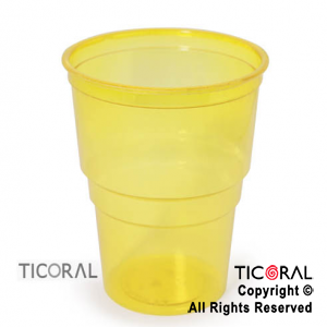 VASO 240CC COLOR CRISTAL AMARILLO x 50