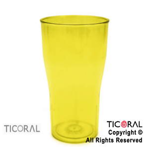 VASO COLA COLOR AMARILLO X 126