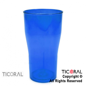 VASO COLA COLOR AZUL X 126