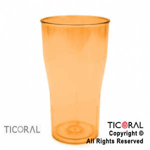 VASO COLA COLOR NARANJA x 10