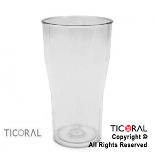 VASO COLA COLOR CRISTAL x 10