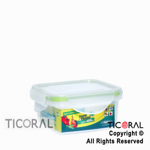 TUPPER CUADRADO 400 ML TAPE Y TRABE