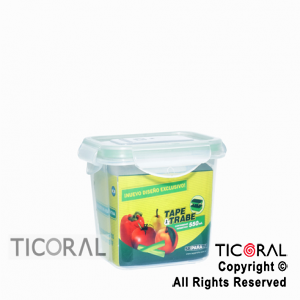 TUPPER RECTANGULAR 550 ML TAPE Y TRABE X 3