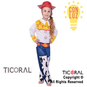 DISF JESSY (TOY STORY) CON LUZ TALLE 2 x 1