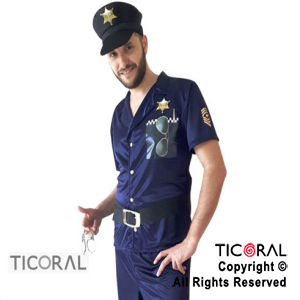 DISF POLICIA HOMBRE ADULTO TALLE 1 CAND x 1