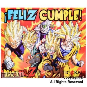 DRAGON BALL AFICHE FELIZ CUMPLE x 1