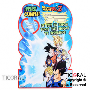 DRAGON BALL AFICHE RECORDATORIO x 1