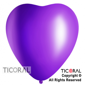 GLOBO S CORAZON 16 FASHION VIOLETA x 50