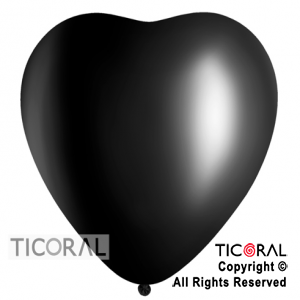 GLOBO S CORAZON 16 FASHION NEGRO x 50