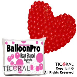 RED 1400 CORAZON P/GLOBOS (1400 DE 9/) x 1