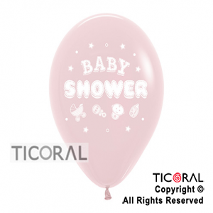 GLOBO S R12 SATIN BABY SHOWER 1C ROSA x 50